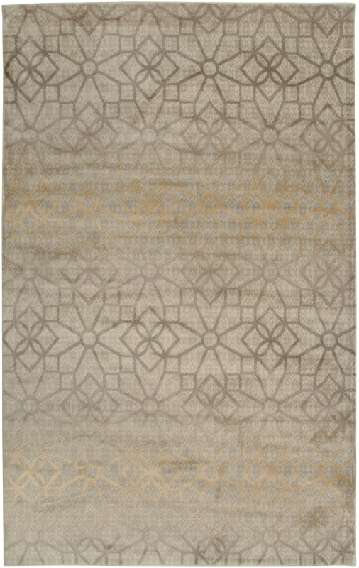 Rizzy Home BS3589 Bayside Power Loomed Polypropylene Rug Ivory 5 1/4 x