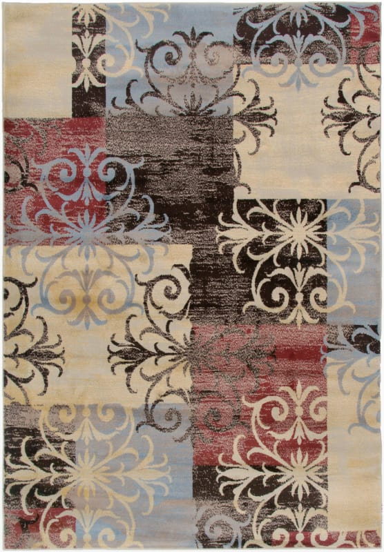 Rizzy Home BS3591 Bayside Power Loomed Polypropylene Rug Multi 7 3/4 x