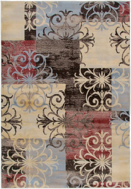 Rizzy Home BS3591 Bayside Power Loomed Polypropylene Rug Multi 9 1/4 x