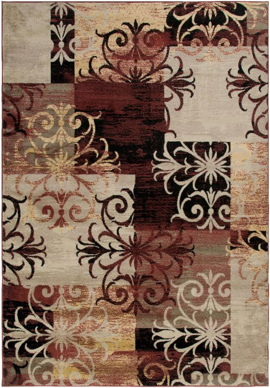 Rizzy Home BS3592 Bayside Power Loomed Polypropylene Rug Multi 6 1/2 x