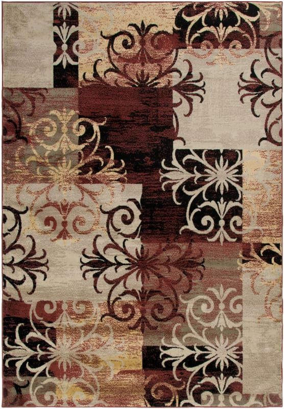 Rizzy Home BS3592 Bayside Power Loomed Polypropylene Rug Multi 9 1/4 x