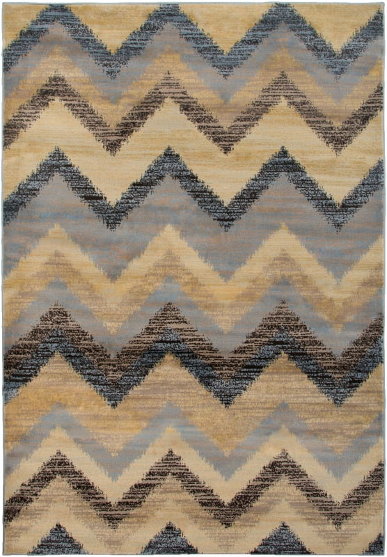 Rizzy Home BS3594 Bayside Power Loomed Polypropylene Rug Gray 9 1/4 x