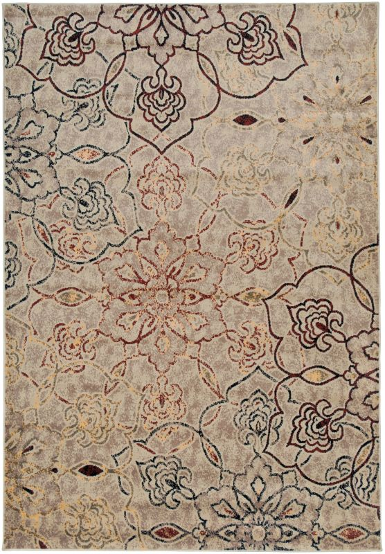 Rizzy Home BS3644 Bayside Power Loomed Polypropylene Rug Ivory 7 3/4 x