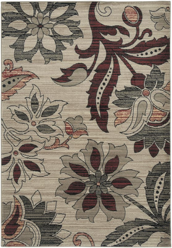 Rizzy Home BS3652 Bayside Power Loomed Polypropylene Rug Ivory 7 3/4 x