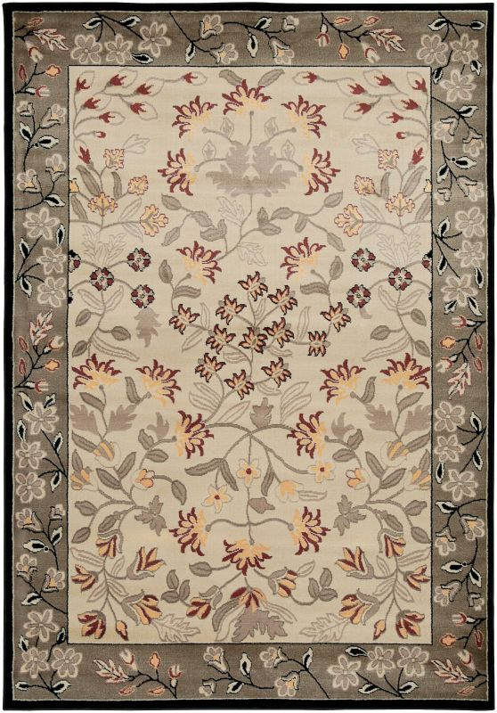 Rizzy Home BS3678 Bayside Power Loomed Polypropylene Rug Ivory 7 3/4 x