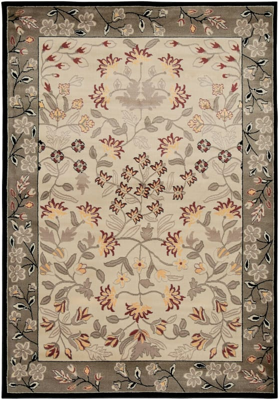 Rizzy Home BS3678 Bayside Power Loomed Polypropylene Rug Ivory 9 1/4 x