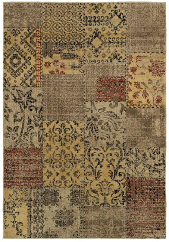 Rizzy Home BS3946 Bayside Power Loomed Polypropylene Rug Multi 6 1/2 x