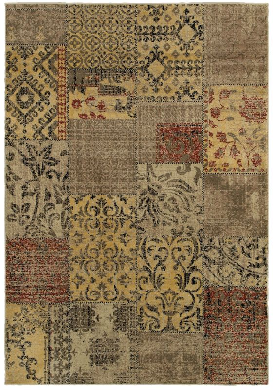 Rizzy Home BS3946 Bayside Power Loomed Polypropylene Rug Multi 9 1/4 x