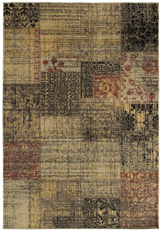 Rizzy Home BS3947 Bayside Power Loomed Polypropylene Rug Multi 5 1/4 x