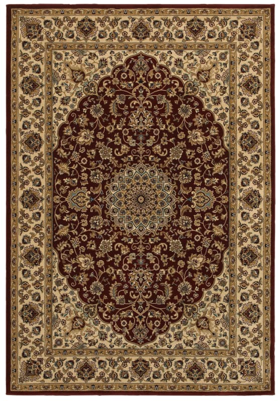 Rizzy Home CH4194 Chateau Power Loomed Polypropylene Rug Red 5 1/4 x 7