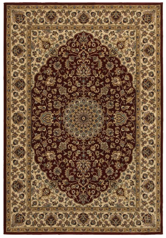 Rizzy Home CH4194 Chateau Power Loomed Polypropylene Rug Red 7 3/4 x