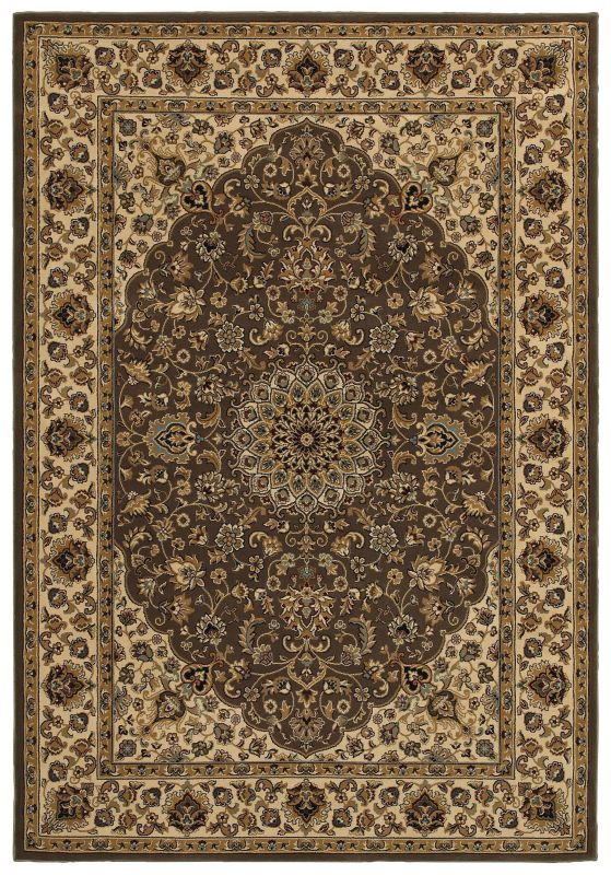 Rizzy Home CH4196 Chateau Power Loomed Polypropylene Rug Brown 5 1/4 x