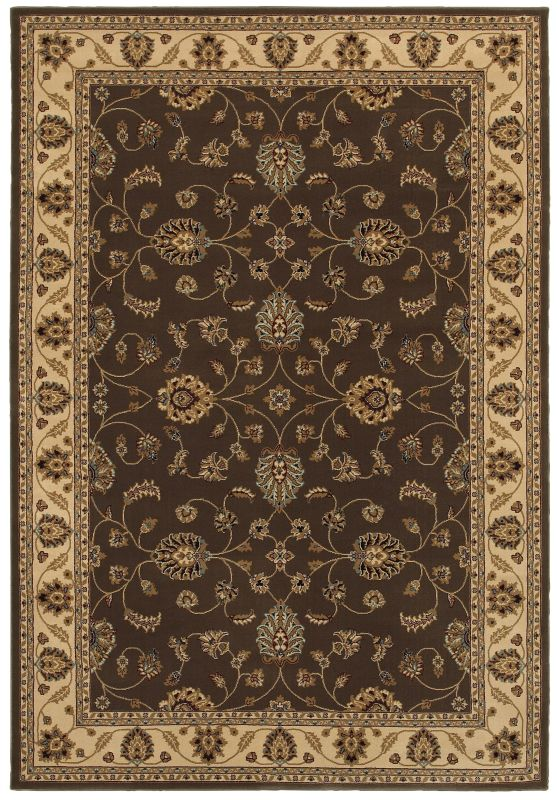 Rizzy Home CH4215 Chateau Power Loomed Polypropylene Rug Brown 6 1/2 x