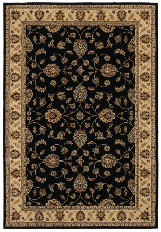 Rizzy Home CH4218 Chateau Power Loomed Polypropylene Rug Black 7 3/4 x