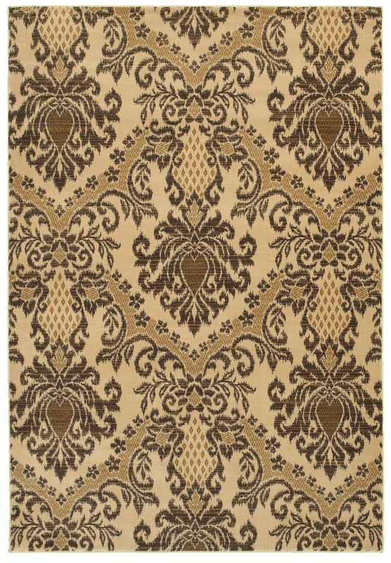 Rizzy Home CH4244 Chateau Power Loomed Polypropylene Rug Ivory 3 1/4 x