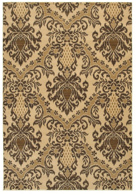 Rizzy Home CH4244 Chateau Power Loomed Polypropylene Rug Ivory 6 1/2 x