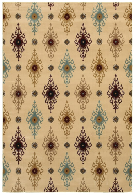 Rizzy Home CH4251 Chateau Power Loomed Polypropylene Rug Ivory 3 1/4 x