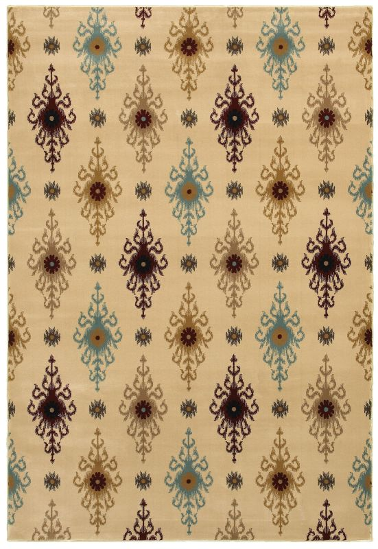 Rizzy Home CH4251 Chateau Power Loomed Polypropylene Rug Ivory 7 3/4 x