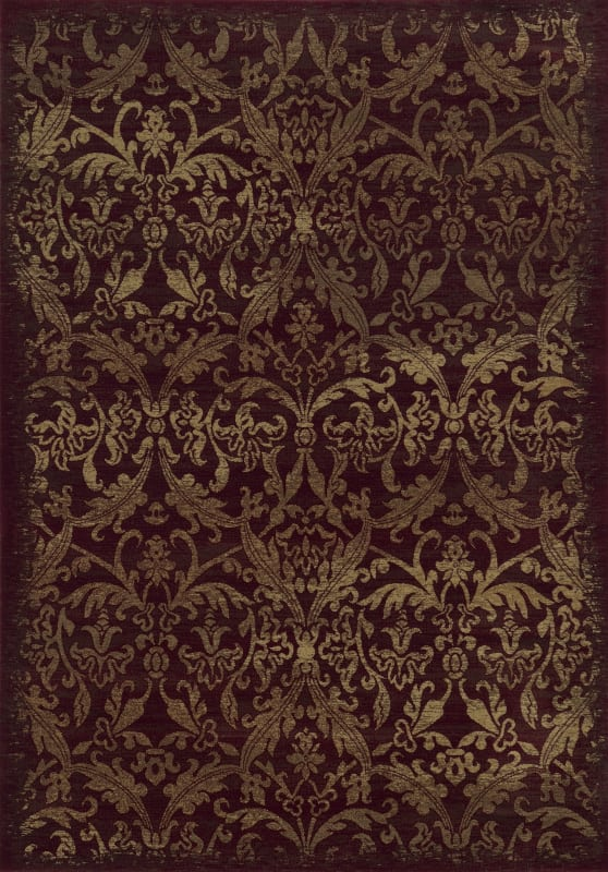 Rizzy Home CH4436 Chateau Power Loomed Polypropylene Rug Red 6 1/2 x