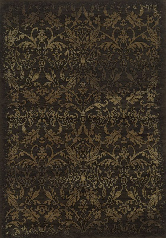 Rizzy Home CH4437 Chateau Power Loomed Polypropylene Rug Brown 3 1/4