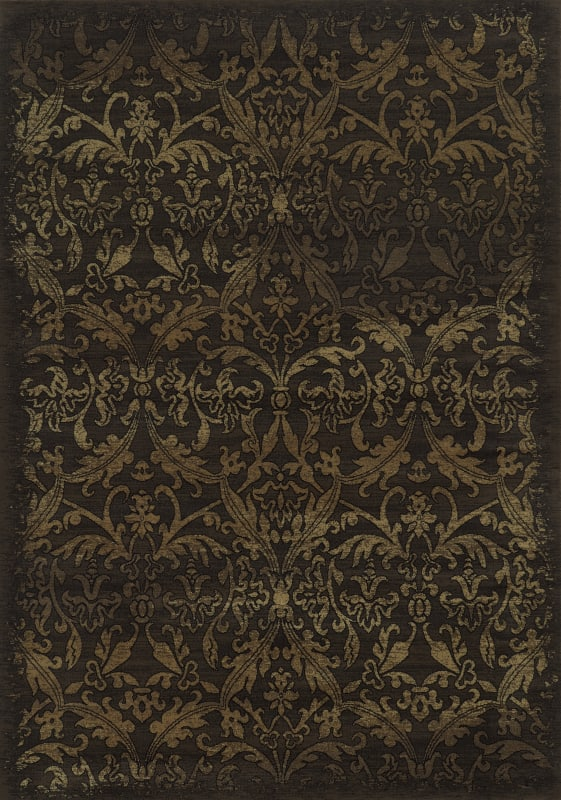 Rizzy Home CH4437 Chateau Power Loomed Polypropylene Rug Brown 6 1/2