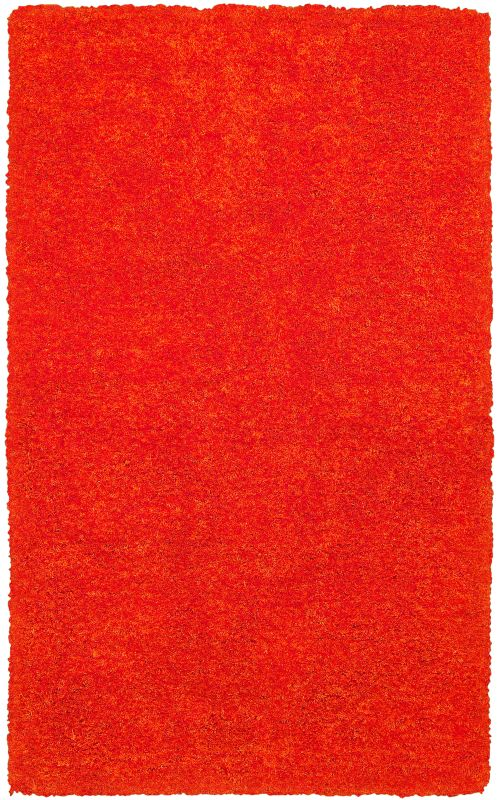 Rizzy Home CO8364 Commons Hand-Tufted Polyester Rug Light Orange 5 x 8