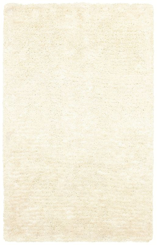Rizzy Home CO8365 Commons Hand-Tufted Polyester Rug White 3 1/2 x 5