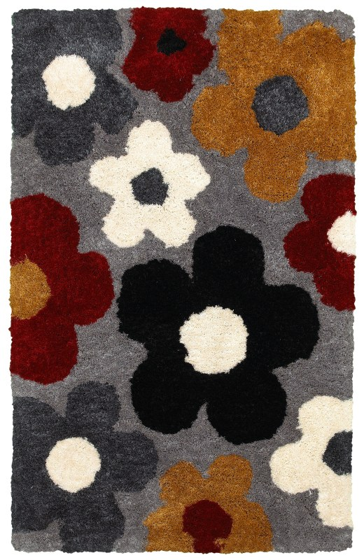 Rizzy Home CO8375 Commons Hand-Tufted Polyester Rug White 5 x 8 Home