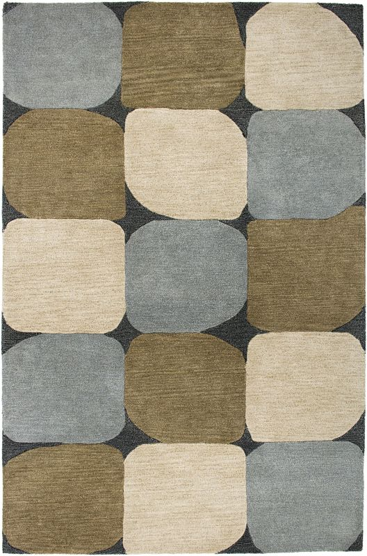 Rizzy Home CL1675 Colours Hand-Tufted New Zealand Wool Rug Slate Blue