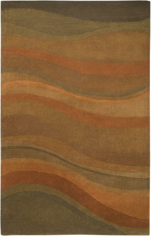 Rizzy Home CL1783 Colours Hand-Tufted New Zealand Wool Rug Rust 3 x 5