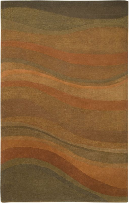 Rizzy Home CL1783 Colours Hand-Tufted New Zealand Wool Rug Rust 8 x 10