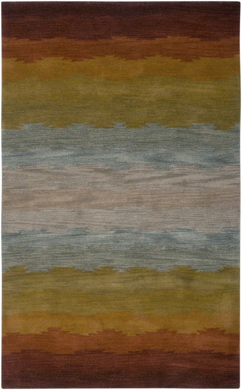 Rizzy Home CL2514 Colours Hand-Tufted New Zealand Wool Rug Rust 2 x 3