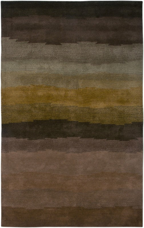 Rizzy Home CL2528 Colours Hand-Tufted New Zealand Wool Rug Brown 5 x 8