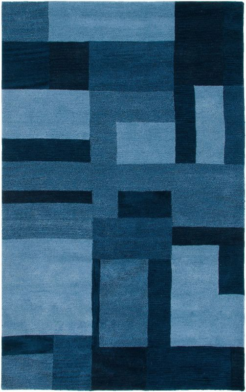 Rizzy Home CL2819 Colours Hand-Tufted New Zealand Wool Rug Blue 5 x 8