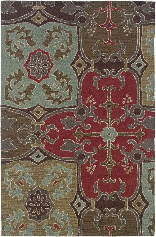 Rizzy Home CT0909 Country Hand-Tufted New Zealand Wool Rug Beige 5 x 8