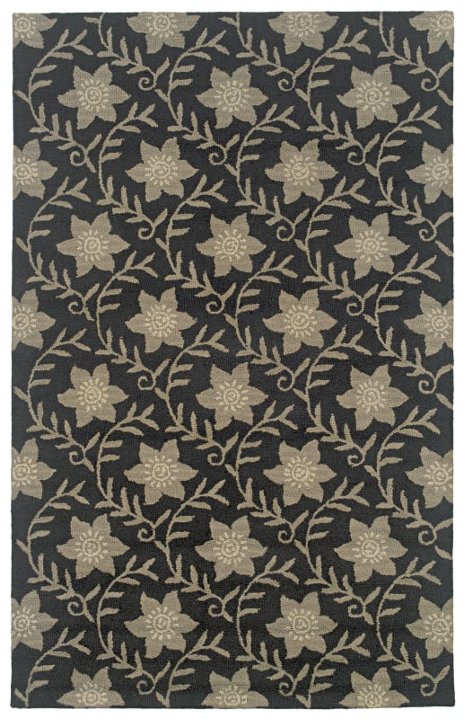 Rizzy Home CT0912 Country Hand-Tufted New Zealand Wool Rug Black 5 x 8