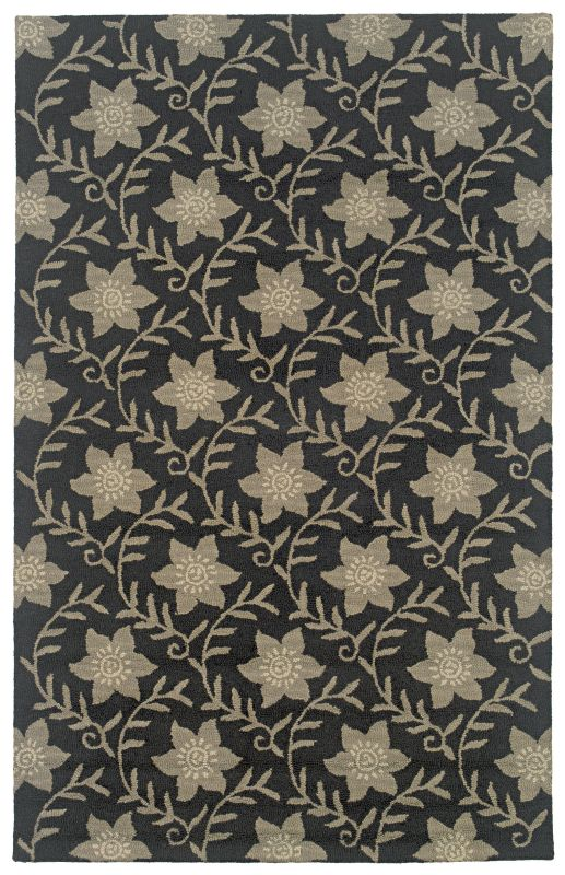 Rizzy Home CT0912 Country Hand-Tufted New Zealand Wool Rug Black 2 1/2