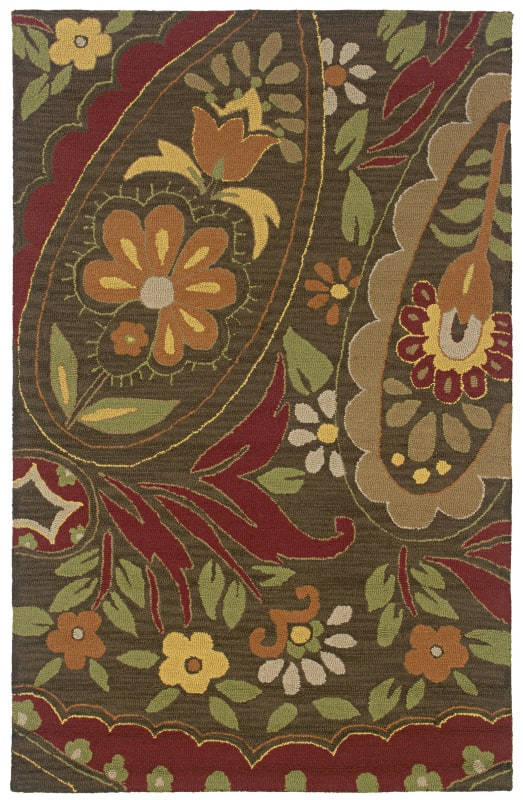 Rizzy Home CT0914 Country Hand-Tufted New Zealand Wool Rug Brown 8 x