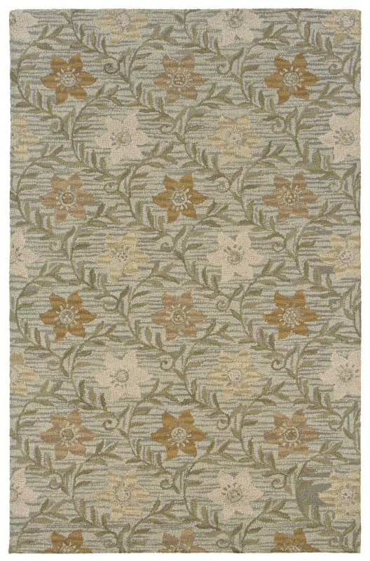 Rizzy Home CT0917 Country Hand-Tufted New Zealand Wool Rug Green 2 x 3