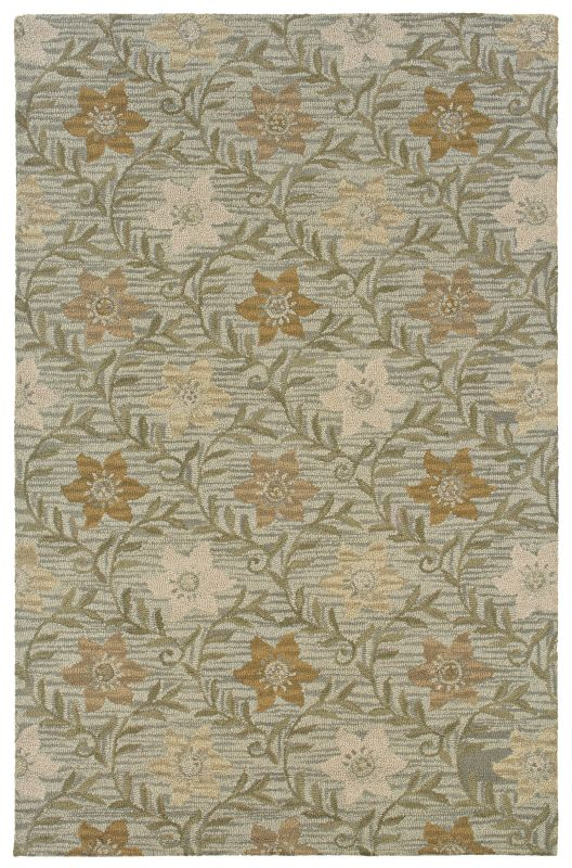 Rizzy Home CT0917 Country Hand-Tufted New Zealand Wool Rug Green 5 x 8