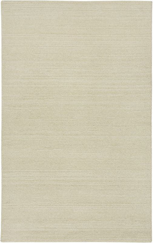 Rizzy Home CT1357 Country Hand-Tufted New Zealand Wool Rug White 5 x 8