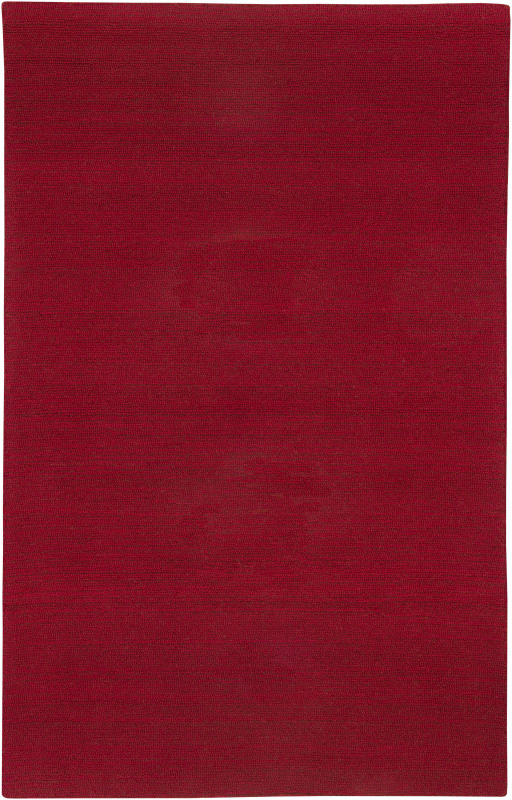Rizzy Home CT1362 Country Hand-Tufted New Zealand Wool Rug Red 5 x 8