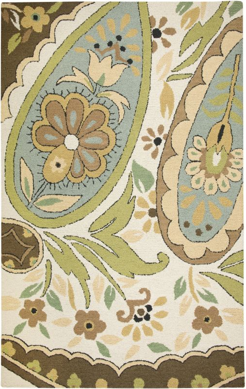 Rizzy Home CT1631 Country Hand-Tufted New Zealand Wool Rug Beige 8 x