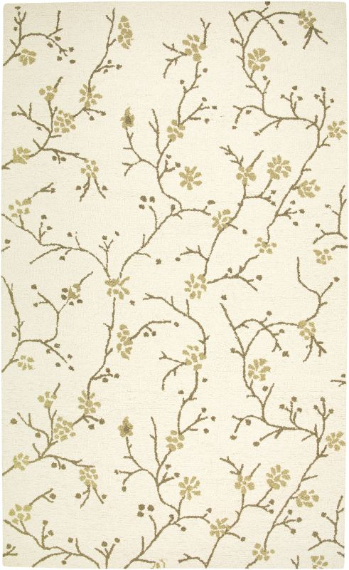 Rizzy Home CT1634 Country Hand-Tufted New Zealand Wool Rug Beige 5 x 8