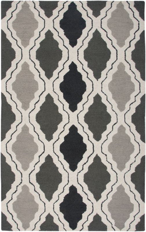 Rizzy Home CT2594 Country Hand-Tufted New Zealand Wool Rug Gray 5 x 8