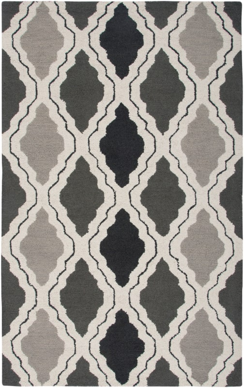Rizzy Home CT2594 Country Hand-Tufted New Zealand Wool Rug Gray 2 1/2