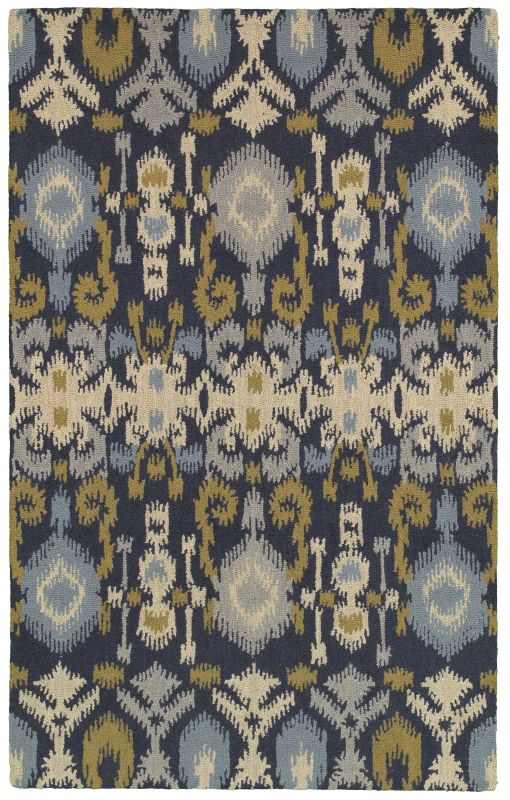Rizzy Home CT8225 Country Hand-Tufted New Zealand Wool Rug Navy 3 x 5