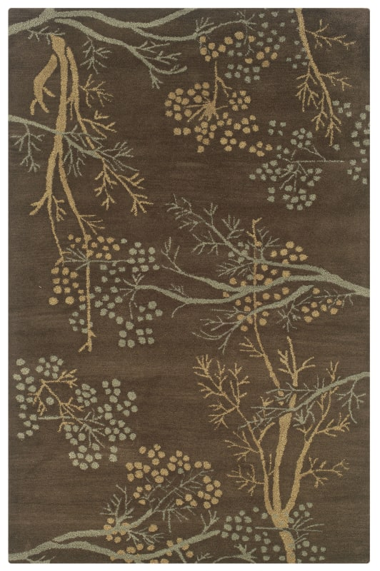 Rizzy Home CF0812 Craft Hand-Tufted Wool Rug Brown 3 x 5 Home Decor