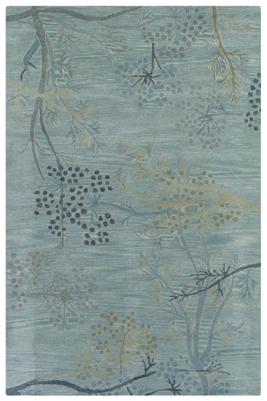 Rizzy Home CF0815 Craft Hand-Tufted Wool Rug Light Blue 2 1/2 x 8 Home