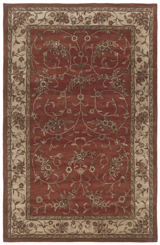 Rizzy Home CF0816 Craft Hand-Tufted Wool Rug Rust 3 x 5 Home Decor